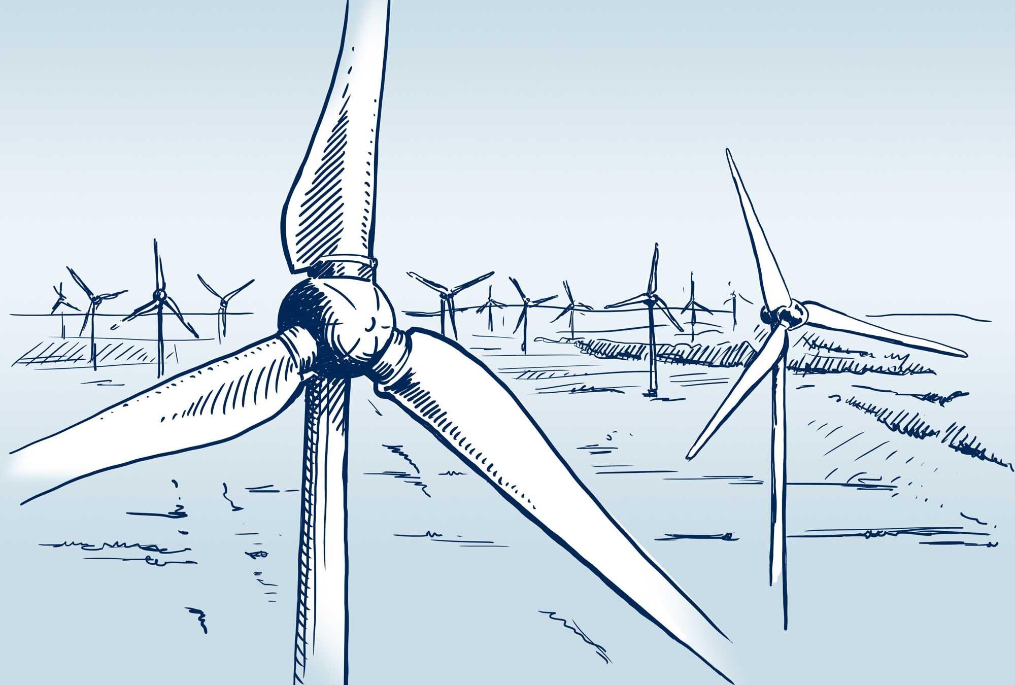 Windpark | Haslinger / Nagele, Illustration: Karlheinz Wasserbacher